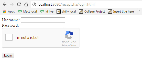 Add reCaptcha I m not a robot in JAVA websites - ChillyFacts