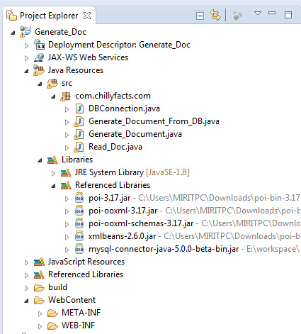 Create Document file dynamically using java - ChillyFacts