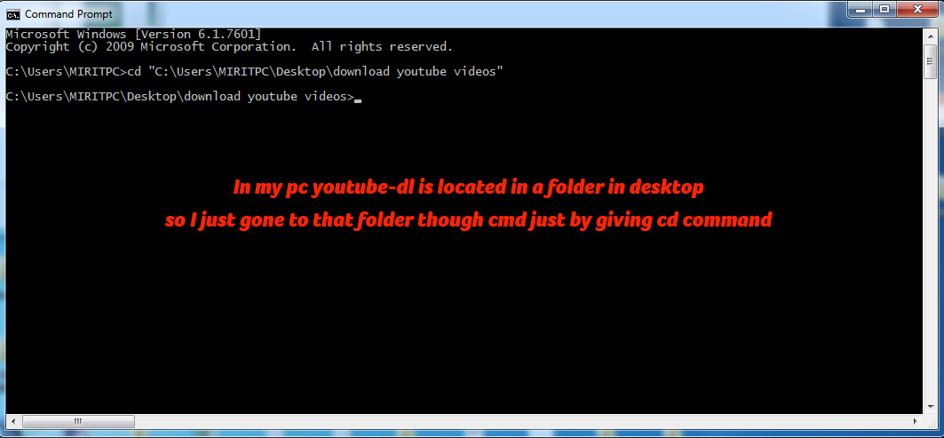 Download Youtube Videos using Command Prompt CMD - ChillyFacts