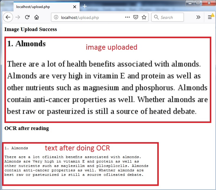 convert image to text optical character recognition ocr using php